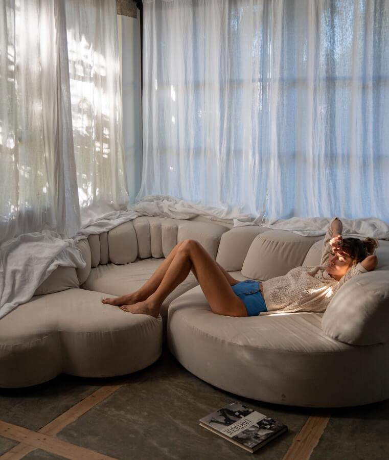 sofa chambre atelier du boutique hotel villa magnan à biarritz