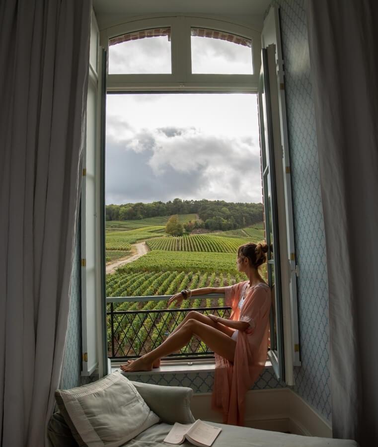 chambre marie antoinette du boutique hotel le chateau de sacy a reims